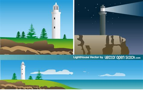 the open boat lighthouse symbol lighthouse free vector art download free vector art