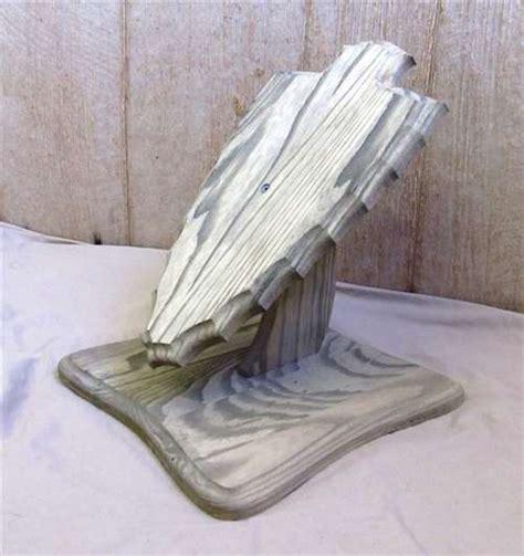 European Mount Pedestal Stand weathered wood arrowhead deer european skull mount table pedestal