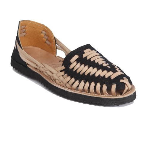 huarachi sandals ix style s black woven leather huarache sandals in