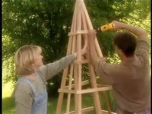 Garden Triangle Trellis How To Build A Pyramid Shaped Trellis Video Martha Stewart