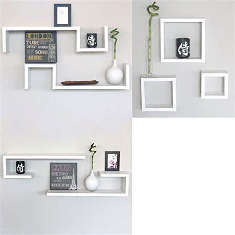 mensole quadrate muro set 7 mensole bianche cubi design moderne mensola