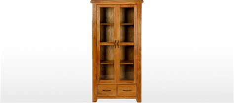 Display Cabinet B Q Barham Oak Glazed Display Cabinet Quercus Living