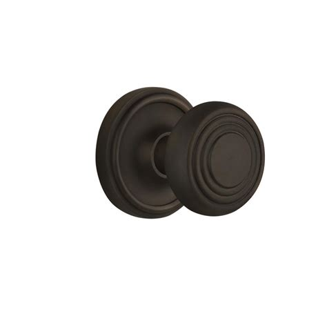 Rubbed Bronze Dummy Door Knob by Baldwin Estate Classic Distressed Rubbed Bronze