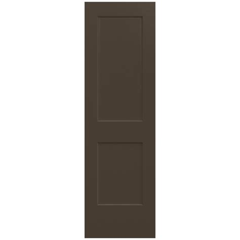 jeld wen 24 in x 80 in molded smooth 2 panel arch plank jeld wen 24 in x 80 in smooth 2 panel dark chocolate
