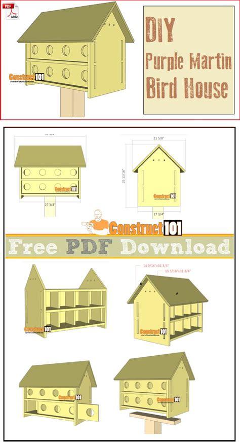 purple martin bird house plans  units