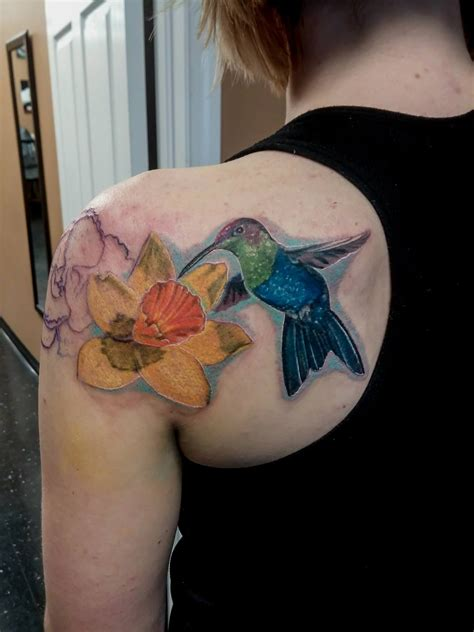 best floral tattoo artists beautiful hummingbird with flower we are a shop