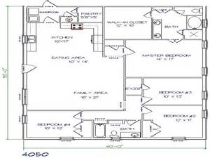Metal Buildings Floor Plans Barndominium Floor Plans 40x50 Metal Building House