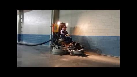 Husqvarna Ride On Concrete Floor Grinder   YouTube