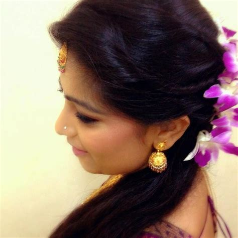 indian hairstyles with roses indian bridal reception hairstyle with flowers indian