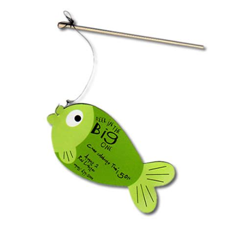 fishing themed boat names fishing pole party invitation handcrafted interactive