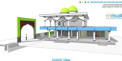 desain gapura pagar dan gapura masjid 171 sketch s blog