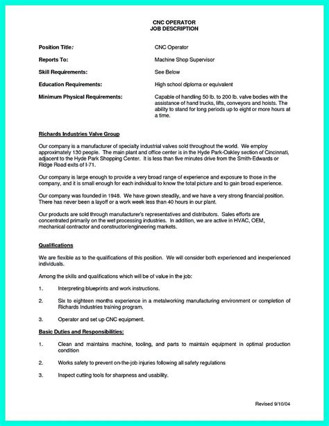 Sample Resume For Machinist 50 Best Templates