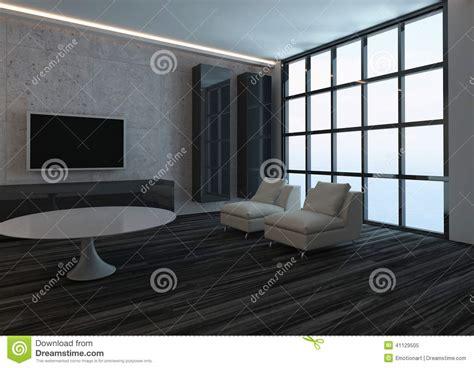 pavimento interno moderno interno moderno salone con la finestra ed il pavimento
