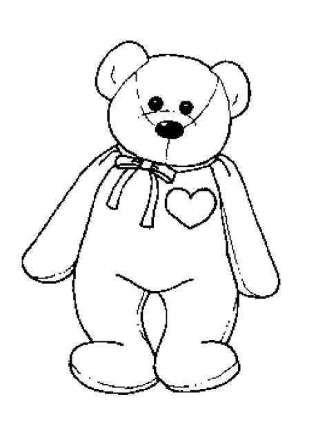 beanie babies coloring page ty beanie boos free coloring pages