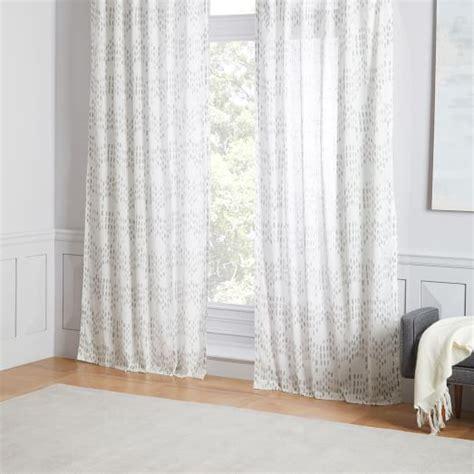 sheer ikat curtains sheer cotton raindrop ikat curtains set of 2 platinum