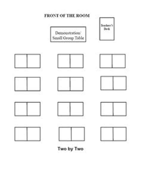 seating chart template for small classroom seating chart