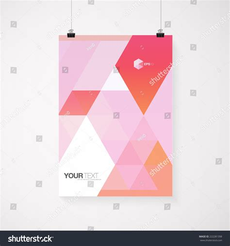 poster abstract layout a4 a3 format poster design your stock vector 222281398