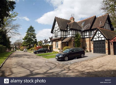 house to buy east london expensive houses on a private road chislehurst south east london stock photo