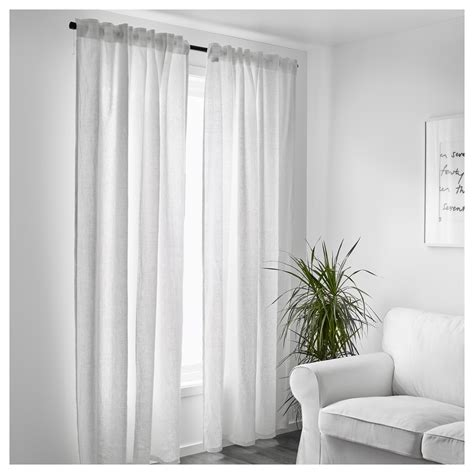 white ikea curtains aina curtains 1 pair white 145x250 cm ikea