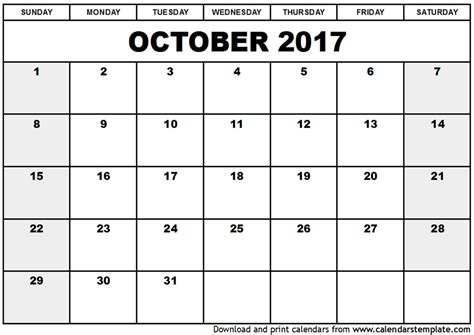 printable calendar 2017 legal size blank calendar 2017 october calendar yahoo image search