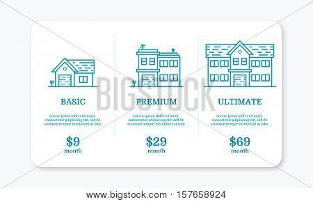 Vector Illustration Pricing Vector Photo Bigstock Subscription Plan Template