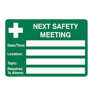 Safety Announcement Template by How To An Effective Safety Meeting