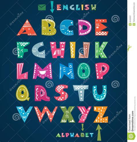cute alphabet pattern cute alphabet stock vector image 55430307