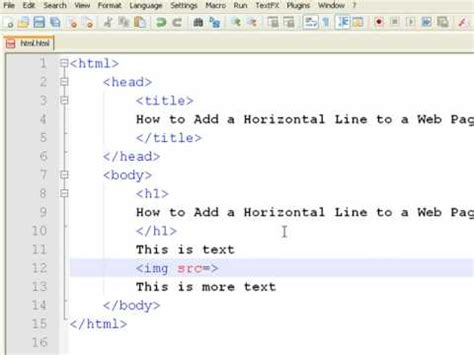 how to add color how to create web pages using html how to add a horizontal line to a web page