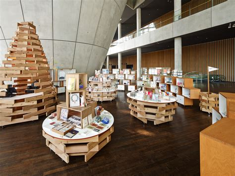 design center tokyo torafu architects cart souvenir shop at the national art