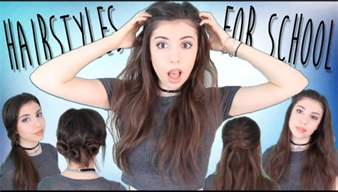 easy back to school hairstyles no heat 4 easy quick no heat back to school hairstyles youtube
