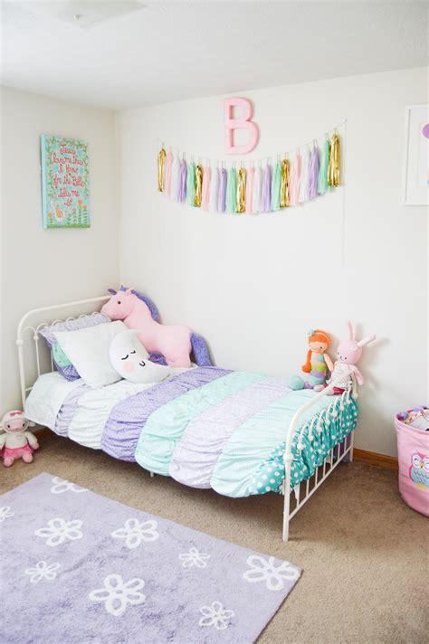 girl bedroom ideas mamawray the joyful tribe bella s room reveal a bright pastel