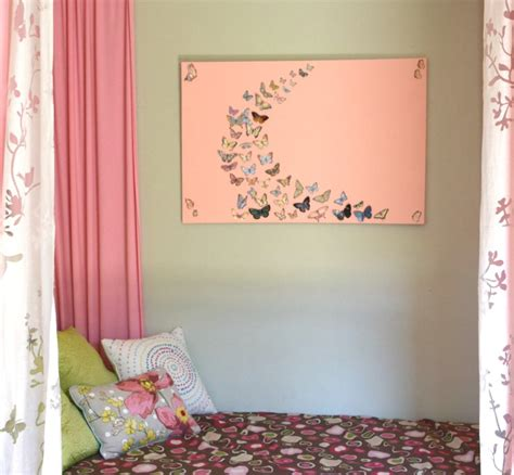 wall art for girl bedroom girl bedroom wall art a butterfly and canvas craft our