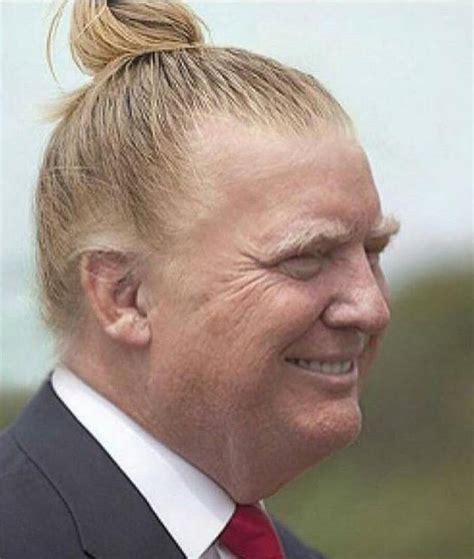 male dog peeing in house for no reason donald trump with a man bun is a sight you can never unsee
