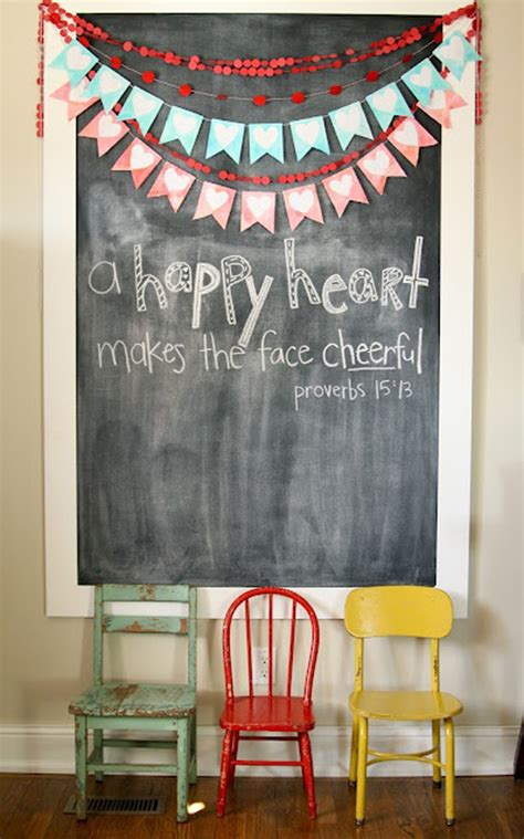 romantic chalkboard ideas  valentines day home