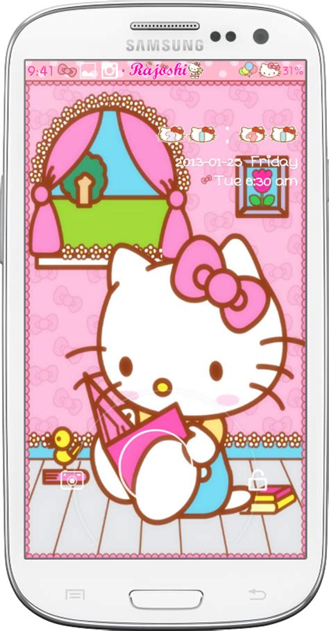 go locker themes hello kitty mobile9 pretty droid themes hello kitty love bow go locker