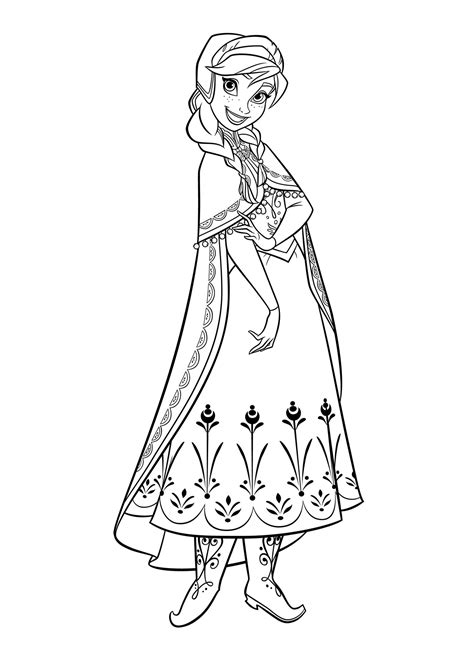 disney princess coloring pages frozen elsa and anna princess anna coloring pages download