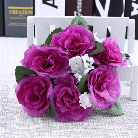tabletop centerpieces candle rings silk wedding handmade flower tabletop