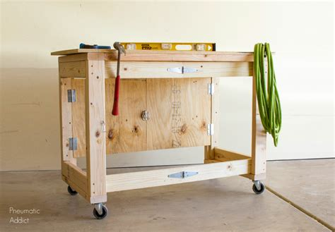 diy fold garage workbench diy folding mobile workbench modifications popular