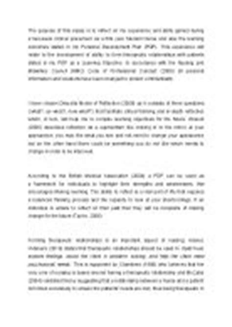 sles of reflective essays for nurses sle reflective essay using gibbs model mfacourses887