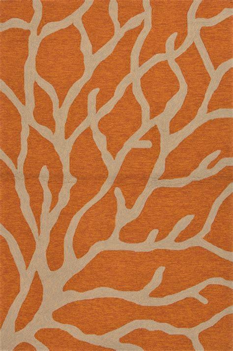 coastal style area rugs coastal pattern polypropylene orange taupe indoor outdoor area rug 2x3 style rugs