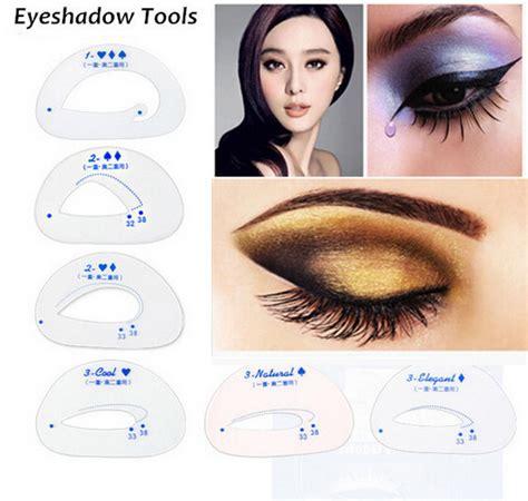 Eyeshadow Eyeliner Grooming Shaping Template Stencil Card by 6pcs Pack Cat Eye Smokey Eye Makeup Stencil Eyebrow