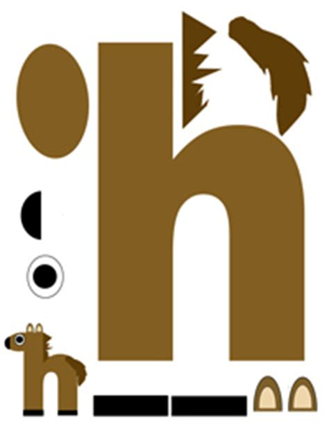 h for horse printable letter activity fun with mama