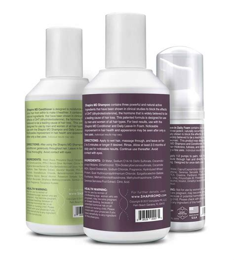shampoo  conditioner triple action hair therapy formula shapiromd