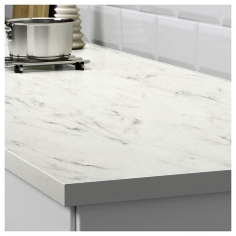 ikea countertop ekbacken worktop white marble effect 186x2 8 cm ikea