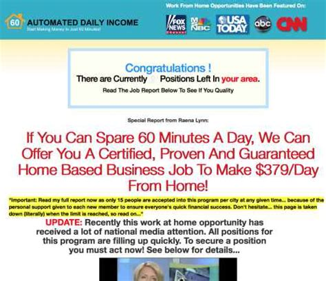 is automated daily income a scam yup just a cover up