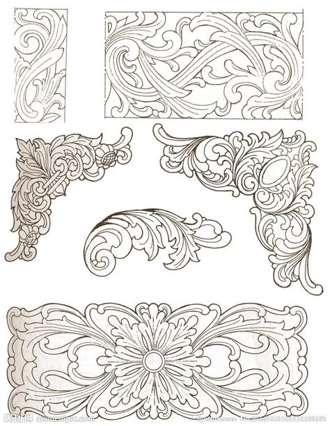 wood cutting templates traditional wood carving patterns design