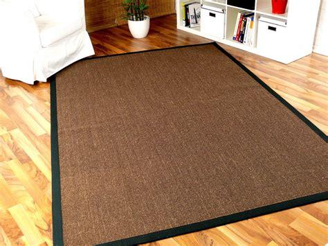 teppich aus bambus sisal astra natur teppich dunkelbraun bord 252 re schwarz