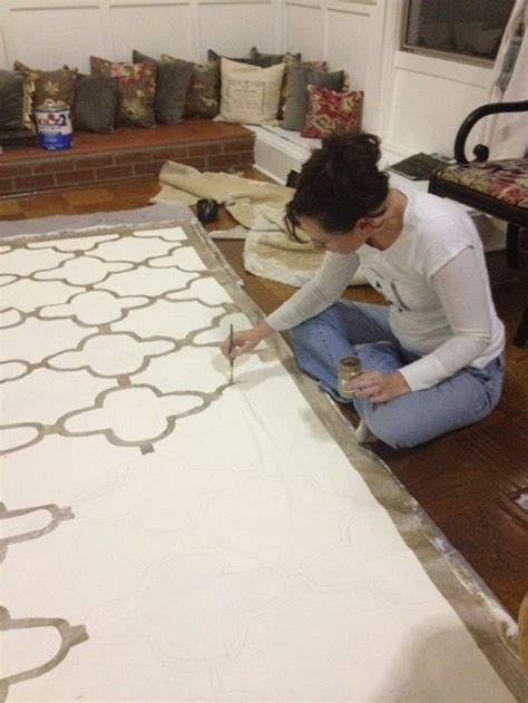 Decorative Floor Painting Ideas 25 Best Ideas About Painted Floor Cloths On Pinterest Floor Cloth Drop Cloth Rug And Dining