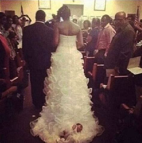 Wedding Dress Meme - the end is near and we deserve it bride ties baby