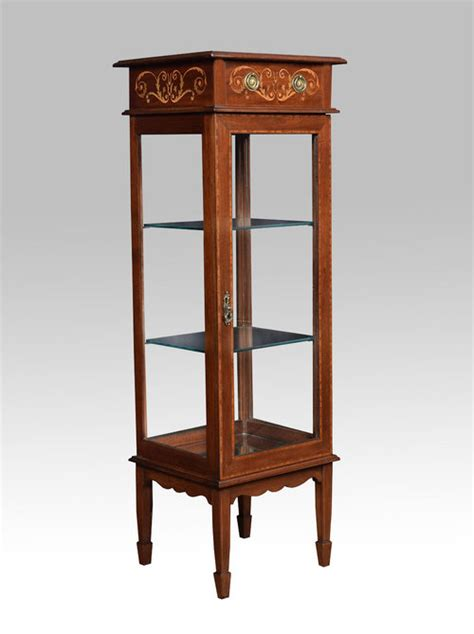 display small edwardian inlaid small display cabinet antiques atlas